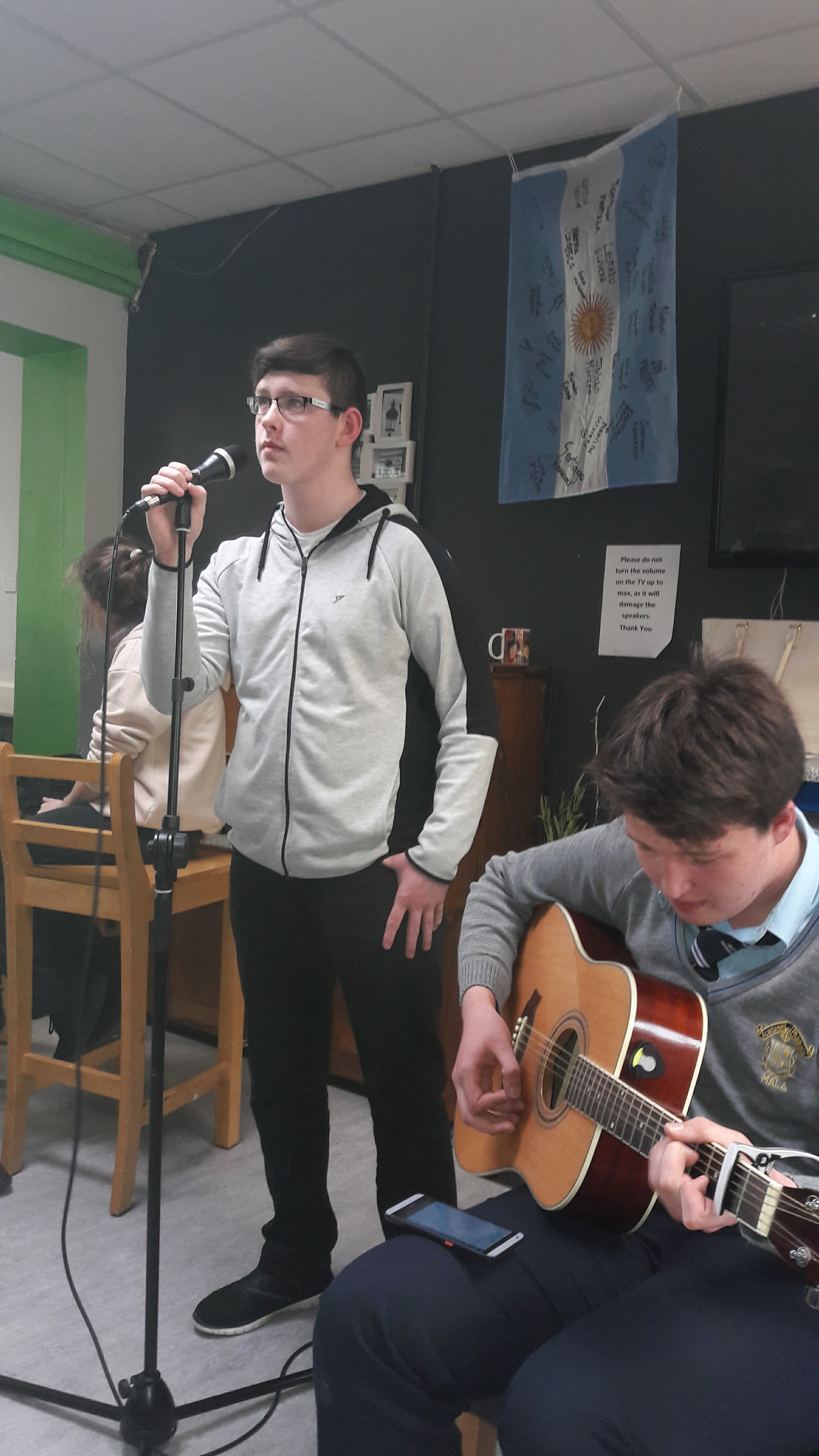 Mallow SPY Singing at Music Project 2017