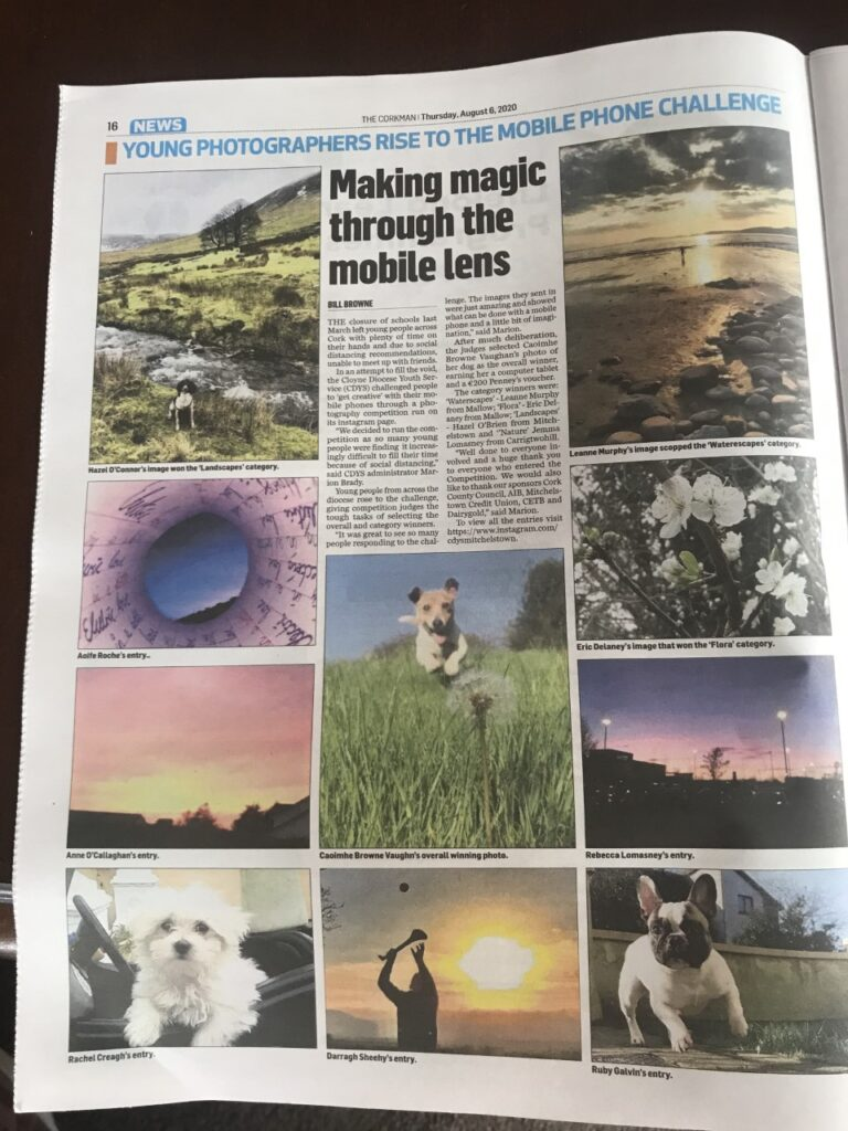 CDYS Photography Competition Artcle in The Corkman