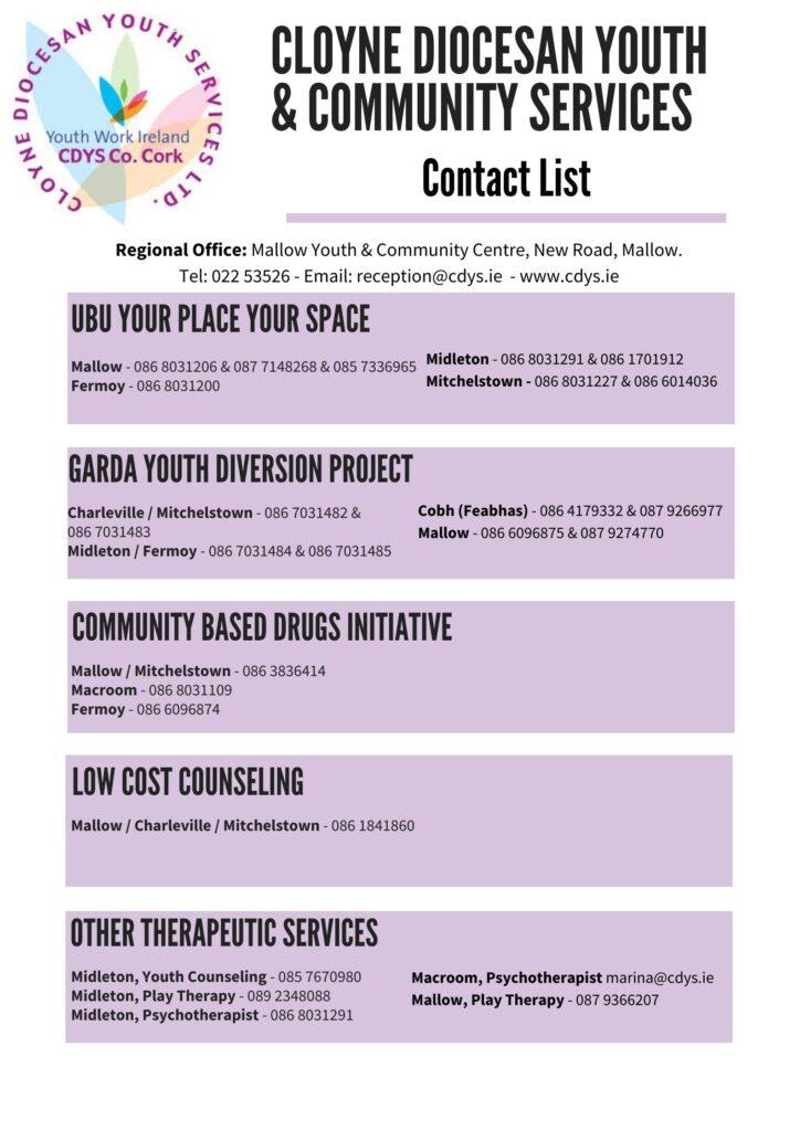 CDYS Contact Us